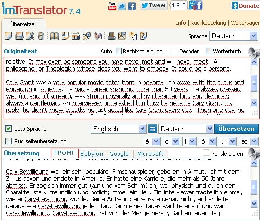 wenn der translator frei übersetzt