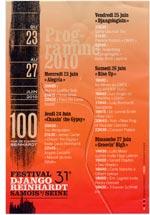 Programmflyer 31stes Festival Django Reinhardt Samois - hinten