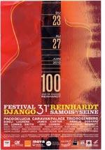 Programmflyer 31stes Festival Django Reinhardt Samois - vorne